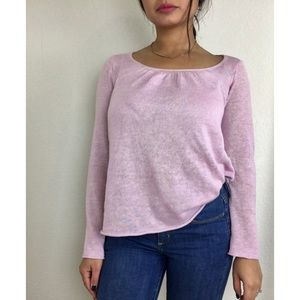 Eileen Fisher Lavender Pink Linen Pullover Sweater